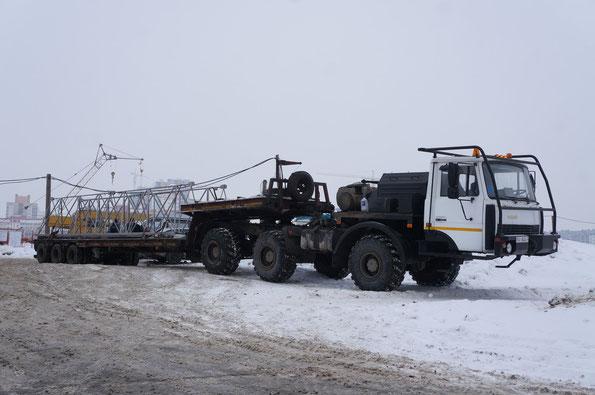 Тягач автомобильный специальный МЗКТ-690610. Минск. 29.01.2013