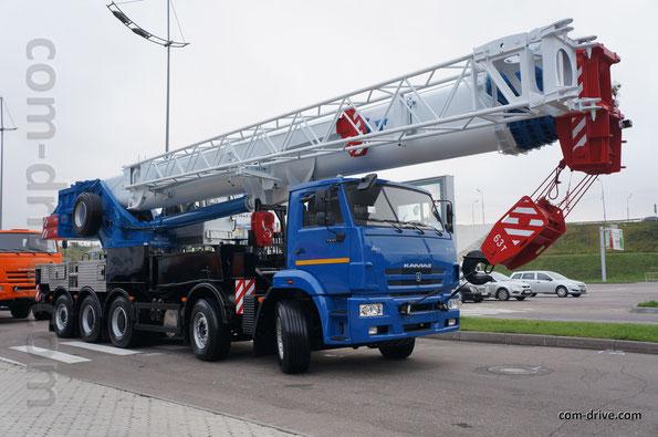 Крановое шасси КАМАЗ-733004 с краном КС-75721-1 «Галичанин». Выставка Comtrans'13. 10.09.2013