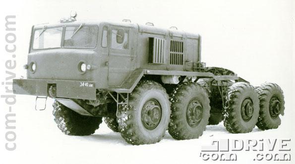 КУРГАНСКИЙ ЗАВОД КОЛЕСНЫХ ТЯГАЧЕЙ. МАЗ-537 - седельный тягач типа 8х8. Количество модификаций: 5