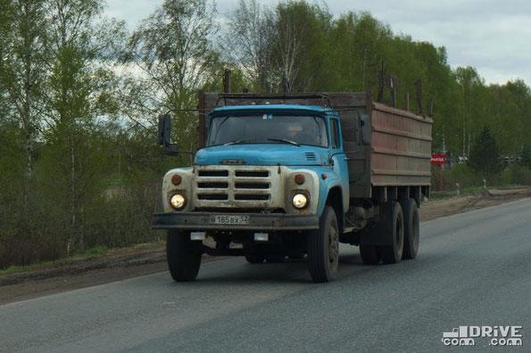 Грузовой автомобиль ЗИЛ-133ГЯ. Трасса Шарья - Нижний Новгород. 02.05.2012