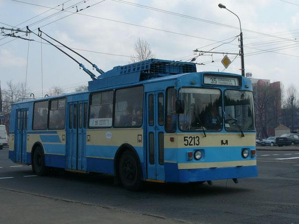 Троллейбус «мод.101», 1995 года. Заводской №73. Минск. 15.04.2009