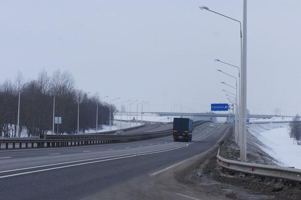 Новая транспортная развязка на Смоленск. Была построено довольно быстро по дорожным меркам. 16.02.2013