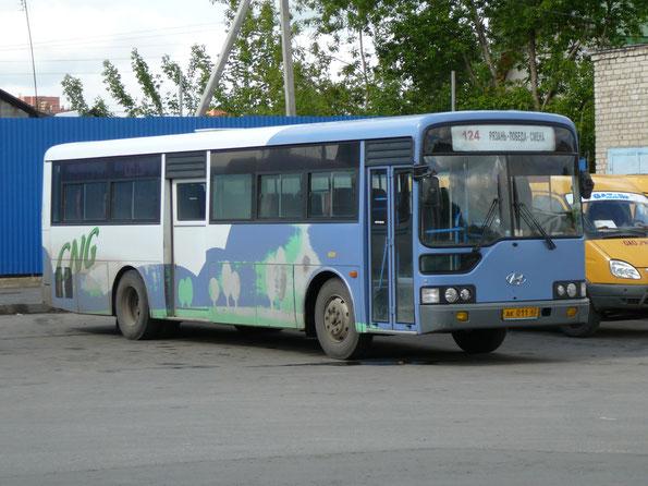Пригородный автобус средней вместимости Hyundai NEW Super Aero City. Рязань. 25.05.2009.