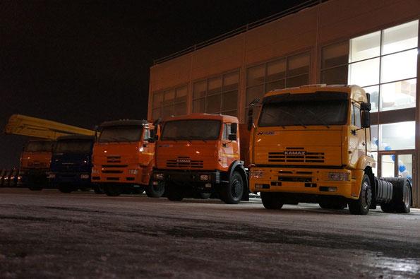 Открытие дилерского центра КАМАЗ компанией Русбизнесавто. 26/01/2012
