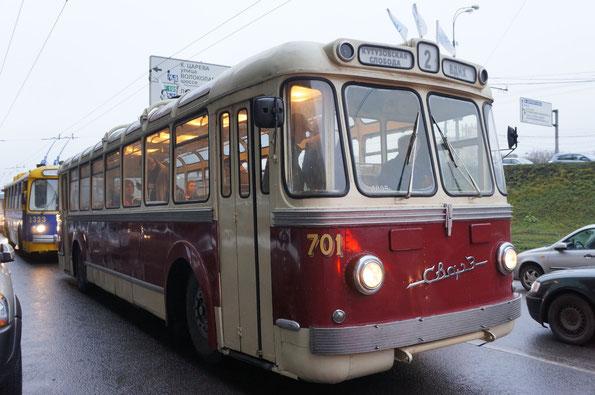 """Троллейбус """"Сокольнического вагоноремонтного завода"""" - МТБЭС, 1963 года. Восстановлен на СВАРЗ в 1993 году"""