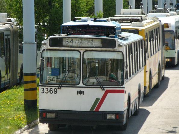 """Троллейбус """"мод.101М"""", 1998 года. Заводской №420. Минск. 10/05/2009"""