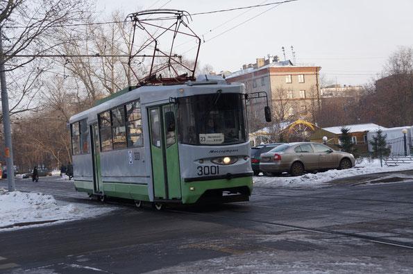Трамвай модели 71-135 (ЛМ-2000). Москва. 21/12/2012