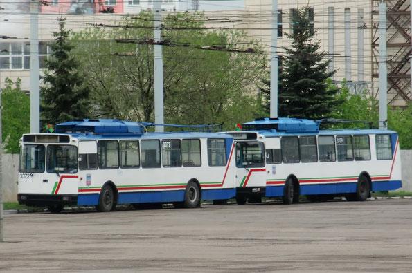 Троллейбусы «мод. 101ПС». Минск. ТП-3. 06.05.2010