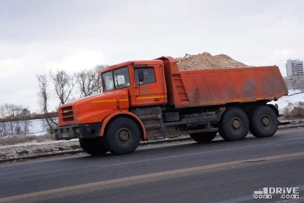 Капотный полноприводный самосвал МЗКТ-652511-01129. Минск. 10/12/2012