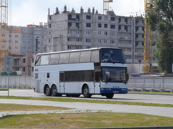 Туристический автобус Caetano Super Beta 4000 на шасси MAN. Брест. 17/06/2008