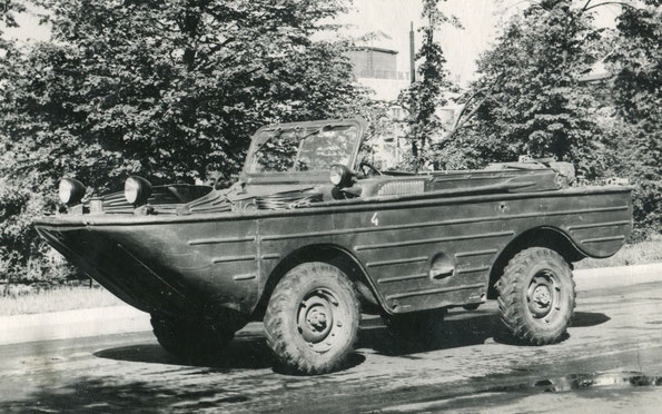 Плавающий автомобиль ГАЗ 46 (МАВ). Фото архивное