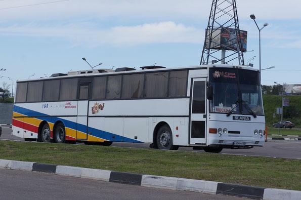 Междугородный автобус Ajokki Express на шасси Scania K112TLB. (1988 г.в.) Химки. 20/06/2012