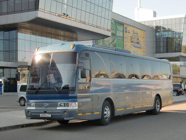 Междугородный автобус Hyundai Aero Express HSX. Москва. 24.08.2011