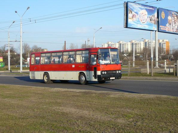 Междугородный автобус Ikarus 256. Минск. 22.04.2007