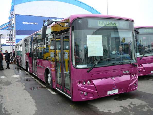 Городской автобус особо большой вместимости Ikarbus 217N. Москва. 02/09/2006