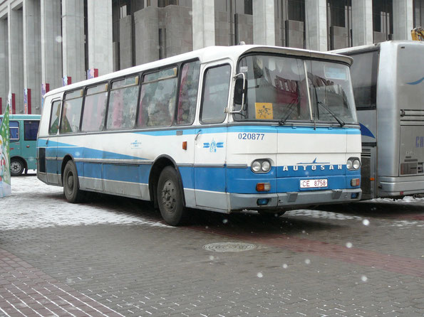 Междугородный автобус Autosan H9-20. Минск. 23/12/2007