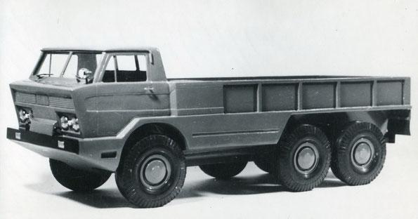 Макет автомобиля ГАЗ 44 с колесной формулой 6х6