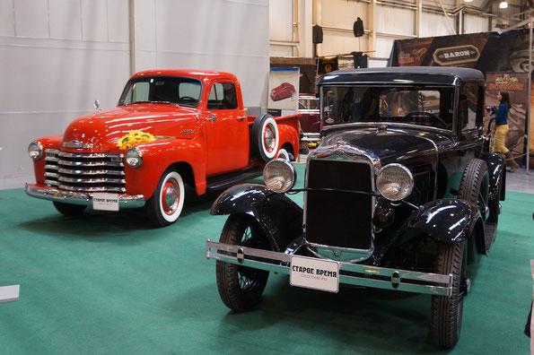 Пикап Chevrolet 3100 Pickup. Год выпуска 1953. Пикап ГАЗ-4. Год выпуска 1936
