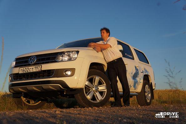 Пикап Volkswagen Amarok. Трасса Полоцк - Витебск