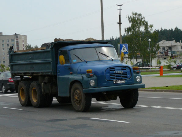 Самосвал с трехсторонней разгрузкой TATRA T148-2 S3. Минск. 01.08.2007