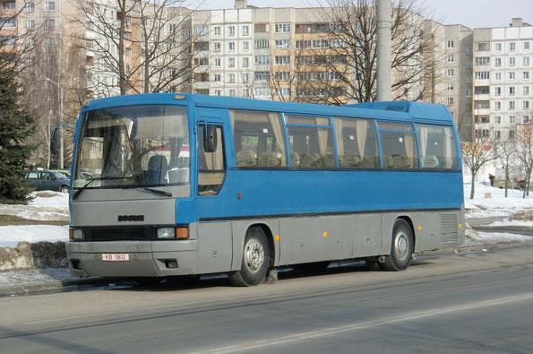 Междугородный автобус Ikarus 365. Минск. 09/03/2010