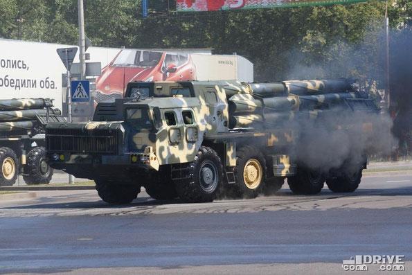 "Система залпового огня 9А52-2 РС30 «Смерч» на шасси МАЗ-79112 ""Оплот"""