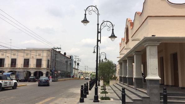 Lerma, Estado de México. Suministro de bolardos, postes y luminarios LED Toljy  en el centro de la ciudad y diversas colonias del municipio.