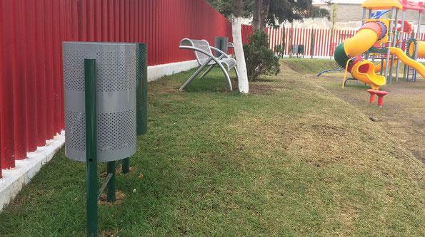 Nicolás Romero, Edo. Méx. Suministro de  mobiliario urbano para diversas unidades deportivas del municipio.