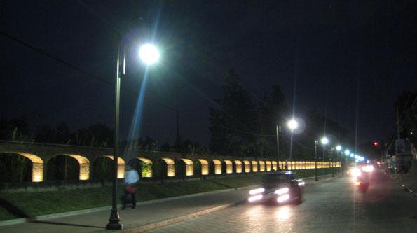 San Andrés Cholula, Puebla. Suministro de postes ornamentales para alumbrado