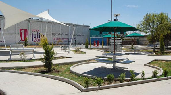 Suministro de mobiliario urbano para la construcción de la Plaza Estado de México en Tezoyuca