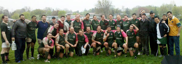 Team picture after a victory