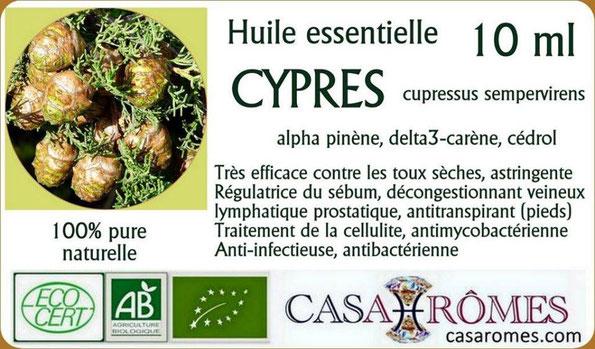 huile essentielle de cypr s biologique naturopathie phytoth rapie aromath rapie nutrition. Black Bedroom Furniture Sets. Home Design Ideas