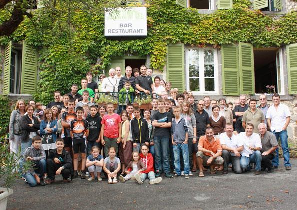 Photo souvenir des 20 ans du VTT-Club des Bois Noirs