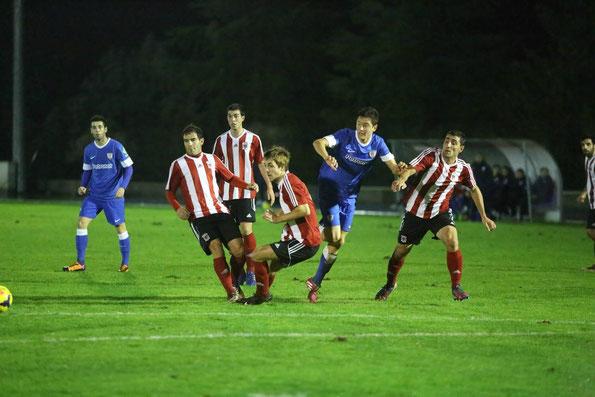 El amistoso contra el Athletic confirmó el potencial del Laudio. Foto: El Correo.