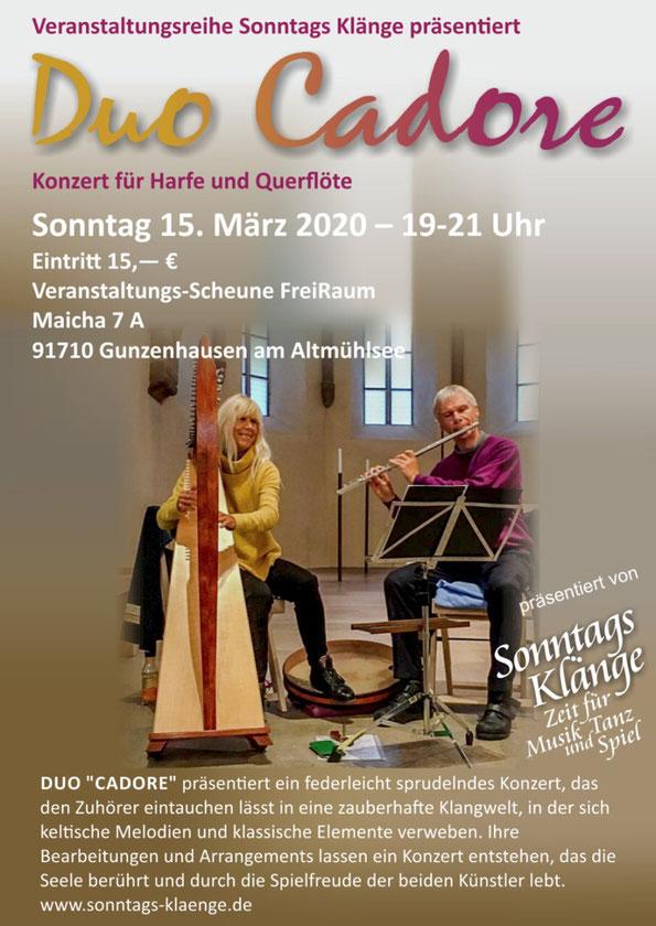 Duo Cadore- GABRIELLE Harfe und  Stephan Iglisch Flöte