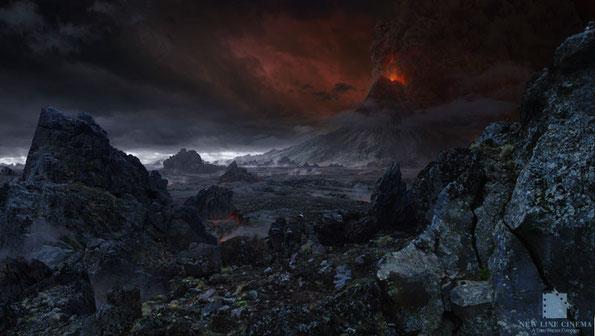 Mordor, tal y como lo imaginaron los guionistas cinematográficos de Hollywood