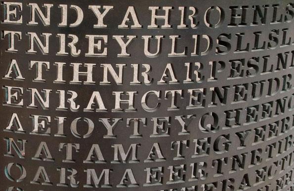 Parte de 'Kryptos', la escultura de Sanborn para la CIA