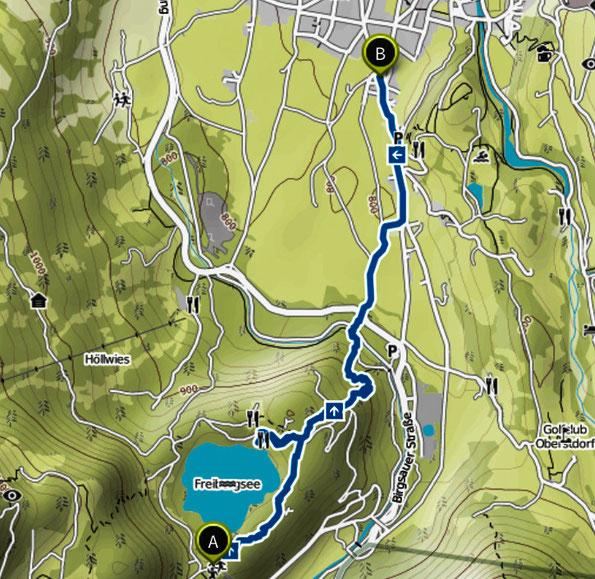 Bild: Wanderung von der Heini-Klopfer-Schanze nach Oberstdorf