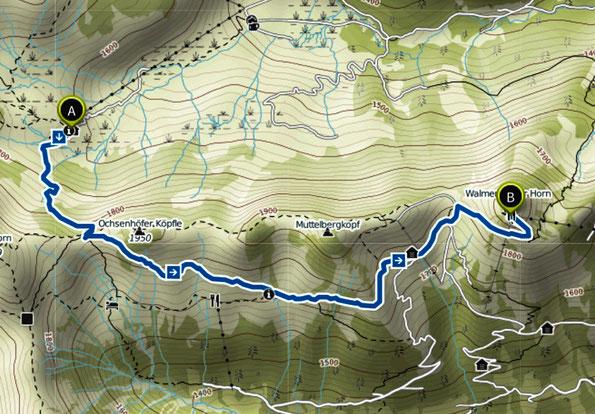 Bild: Wanderung Schwarzwasserhütte - Walmendinger Horn