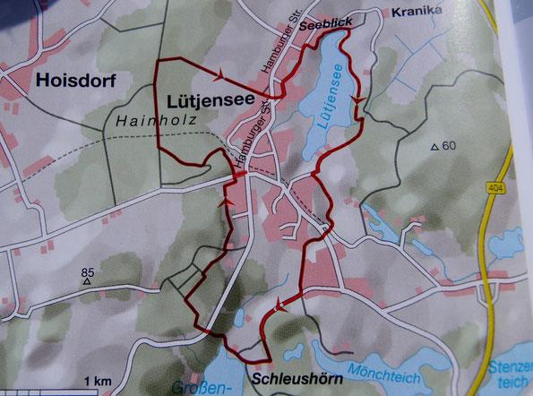 Bild: Wanderkarte Lütjensee