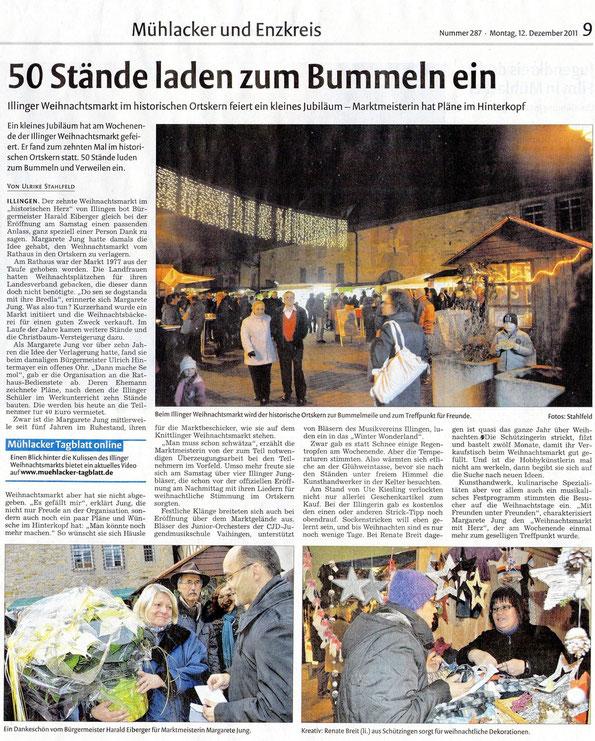 Mühlacker Tagblatt 12.12.2011
