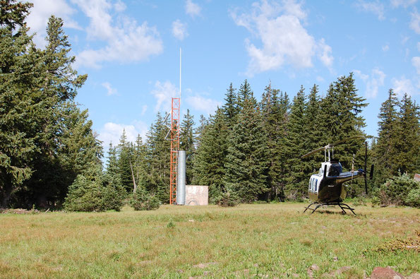 Utility services helicopter transport in Colorado