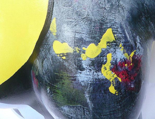 Torso 12 / 11, Skulptur, bunt, abstrakt, Art, Kunst, Malerei, Original, Unikat, Kunststoff, Acryl, Detail