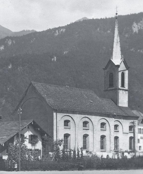 grosse Kapelle, erbaut 1704, Bild aus dem Jahre 1925