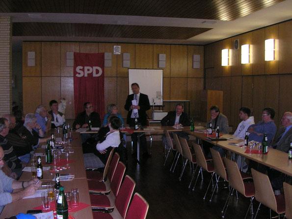 Jahreshauptversammlung in Zimmersrode mit dem 1. Kreisbeigeordneten Winfried Becker
