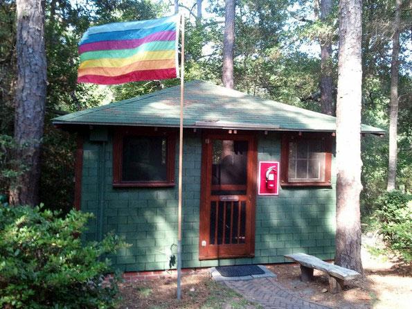 Lagoon Cabin & Baba's Flag