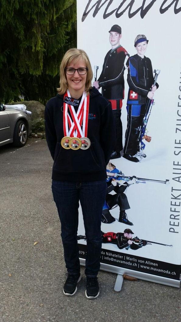 Bettiana Bucher, Gold, Gold und Silber! Bravo und herzliche Gratulation!
