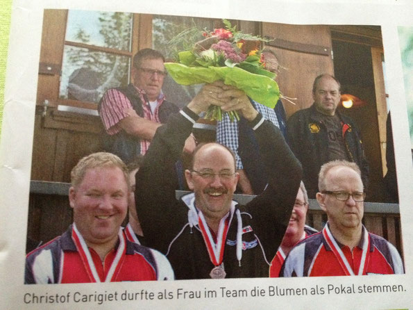 Bildlegende vom Mannschaftsfinal in Ettiswil, Photo und Text Schützenkönig NR 5/2013 Uhu