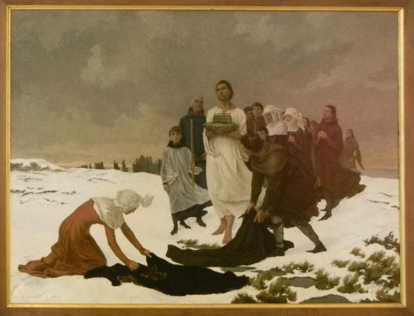 P. Édouard LE GRAND (1856 - 1936) - peinture à l'huile sur toile - 1890