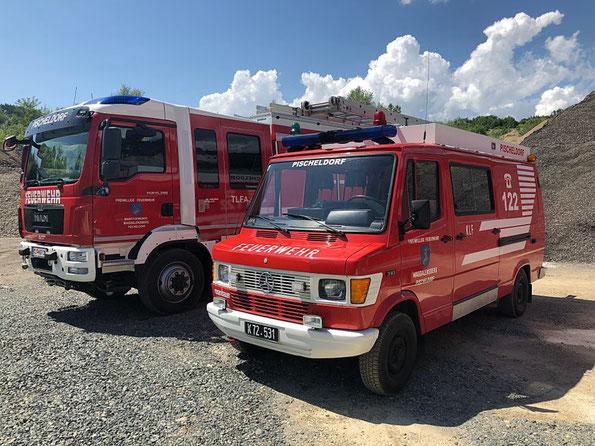 Fahrzeuge der Feuerwehr Pischeldorf, TLFA 2000/200, Mercedes Benz 310, KLF, MAN